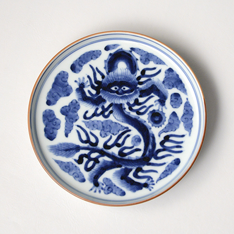 「No.15 雲龍文五寸皿 / Dish with a dragon flying in the clouds, Sometsuke」の写真 その2