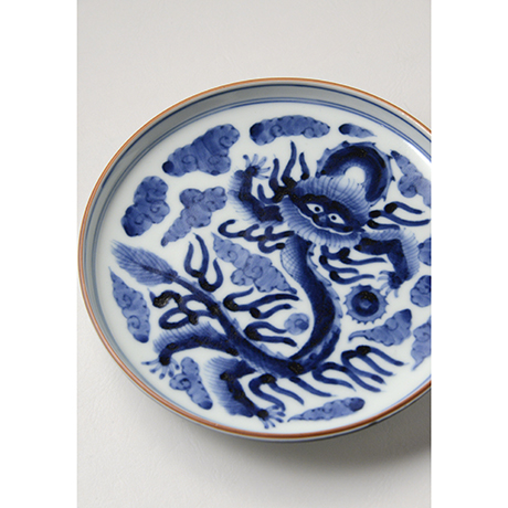 「No.15 雲龍文五寸皿 / Dish with a dragon flying in the clouds, Sometsuke」の写真 その4