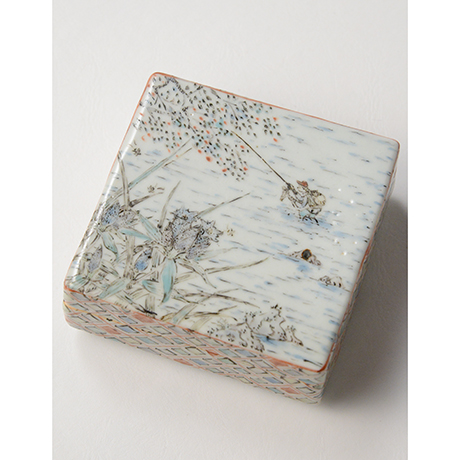 "「No.18 色絵飾箱 「つり人われの図」 Ornamental box, Iro-e, ""I, fishing""」の写真 その2"