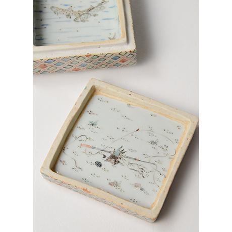 "「No.18 色絵飾箱 「つり人われの図」 Ornamental box, Iro-e, ""I, fishing""」の写真 その3"