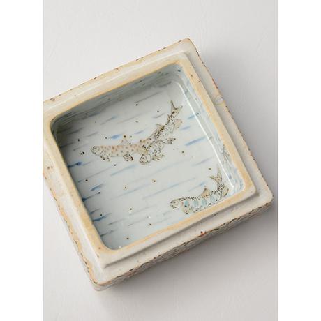"「No.18 色絵飾箱 「つり人われの図」 Ornamental box, Iro-e, ""I, fishing""」の写真 その4"