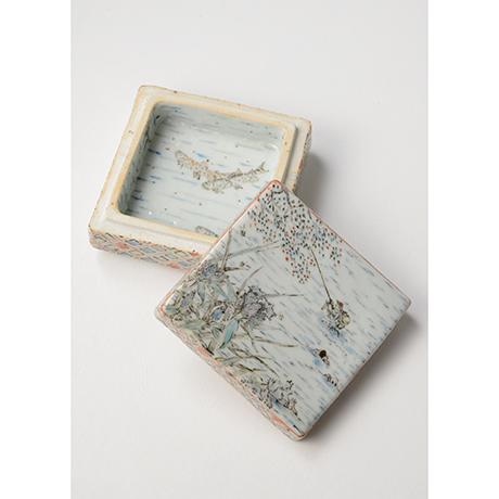 "「No.18 色絵飾箱 「つり人われの図」 Ornamental box, Iro-e, ""I, fishing""」の写真 その6"