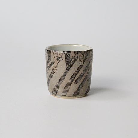 "「No.20 色絵銀彩酒呑 「由幾のかげ乃図」  Sake cup, Iro-e with silver, ""A Snow Scene""」の写真 その3"