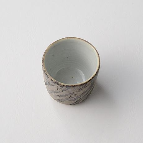 "「No.20 色絵銀彩酒呑 「由幾のかげ乃図」  Sake cup, Iro-e with silver, ""A Snow Scene""」の写真 その5"