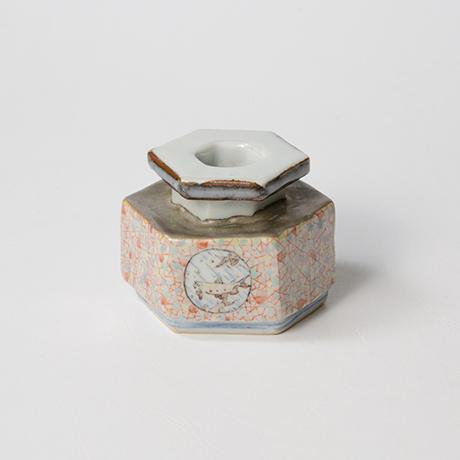 "「No.21 色絵銀彩小壷 「こ保理文」  Small Vessel, Iro-e with silver, ""Icecrack pattern""」の写真 その2"