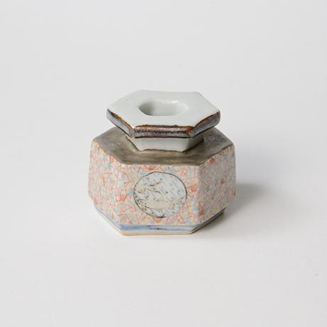 "「No.21 色絵銀彩小壷 「こ保理文」  Small Vessel, Iro-e with silver, ""Icecrack pattern""」の写真 その3"