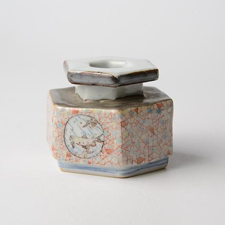 "「No.21 色絵銀彩小壷 「こ保理文」  Small Vessel, Iro-e with silver, ""Icecrack pattern""」の写真 その6"