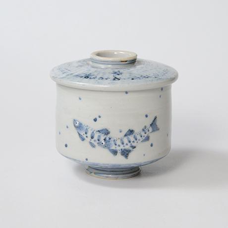 「No.38 染付魚文蓋物  Bowl with lid, Sometsuke」の写真 その1