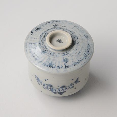 「No.38 染付魚文蓋物  Bowl with lid, Sometsuke」の写真 その3