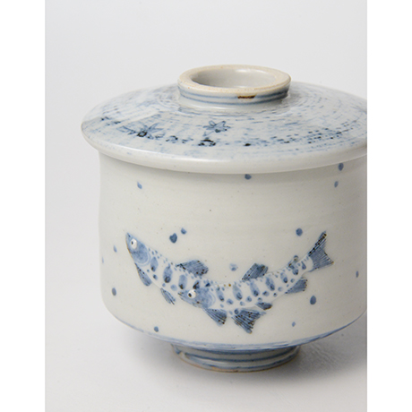 「No.38 染付魚文蓋物  Bowl with lid, Sometsuke」の写真 その7