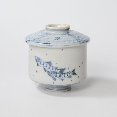 「No.39 染付魚文蓋物  Bowl with lid, Sometsuke」の写真 その1