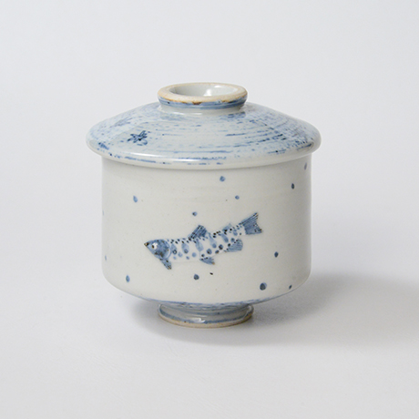 「No.39 染付魚文蓋物  Bowl with lid, Sometsuke」の写真 その2