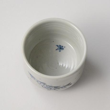 「No.39 染付魚文蓋物  Bowl with lid, Sometsuke」の写真 その4