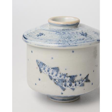 「No.39 染付魚文蓋物  Bowl with lid, Sometsuke」の写真 その7