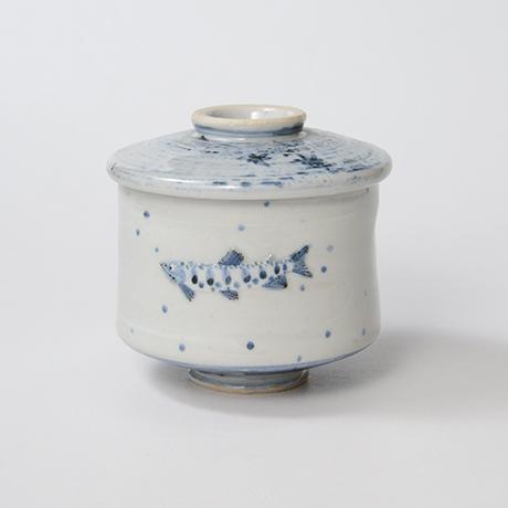 「No.40 染付魚文蓋物  Bowl with lid, Sometsuke」の写真 その2