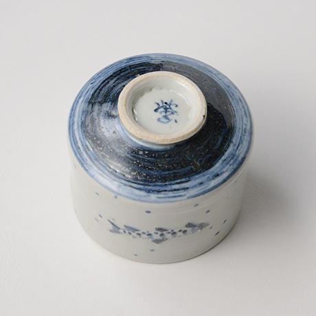 「No.40 染付魚文蓋物  Bowl with lid, Sometsuke」の写真 その6
