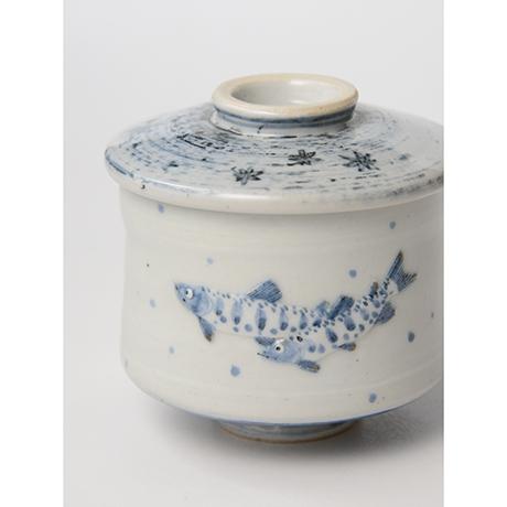 「No.40 染付魚文蓋物  Bowl with lid, Sometsuke」の写真 その7