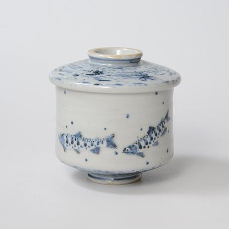 「No.41 染付魚文蓋物  Bowl with lid, Sometsuke」の写真 その1