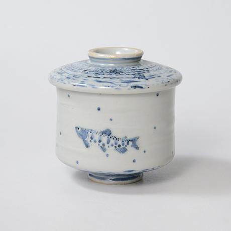 「No.41 染付魚文蓋物  Bowl with lid, Sometsuke」の写真 その2