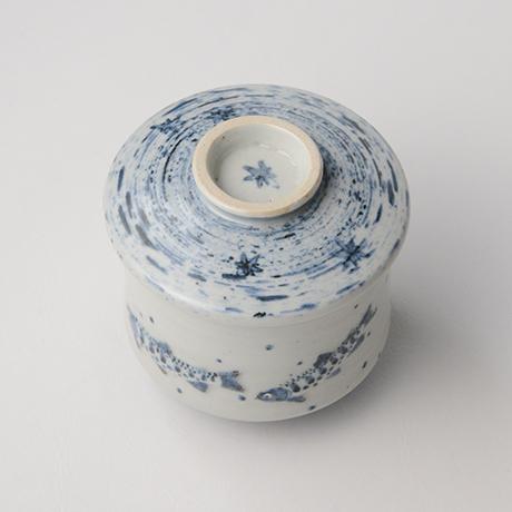 「No.41 染付魚文蓋物  Bowl with lid, Sometsuke」の写真 その3