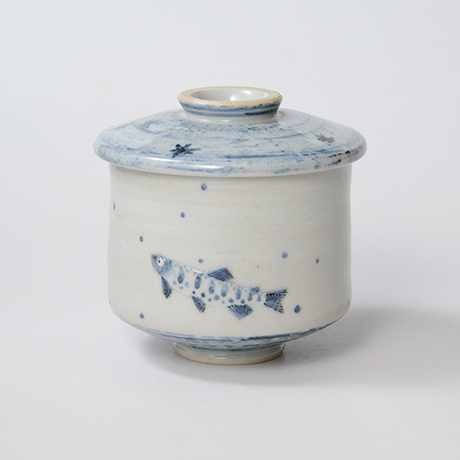 「No.42 染付魚文蓋物  Bowl with lid, Sometsuke」の写真 その2