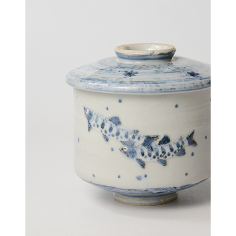 「No.42 染付魚文蓋物  Bowl with lid, Sometsuke」の写真 その7
