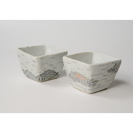 "「No.23 色絵小鉢 六「秋あじ川にもどる」  A set of six bowls, Iro-e, ""Mother-river Homing horse mackerel""」の写真 その2"