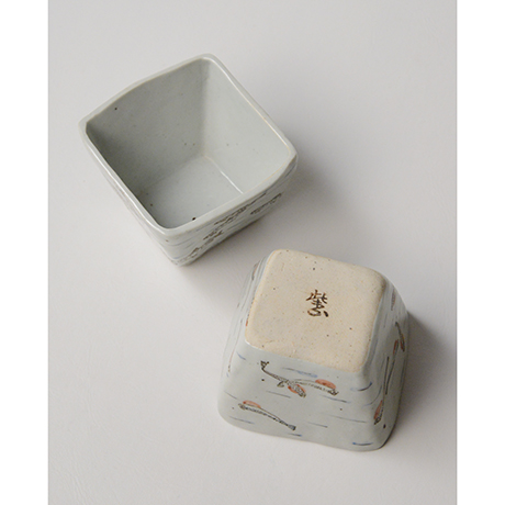 "「No.23 色絵小鉢 六「秋あじ川にもどる」  A set of six bowls, Iro-e, ""Mother-river Homing horse mackerel""」の写真 その5"