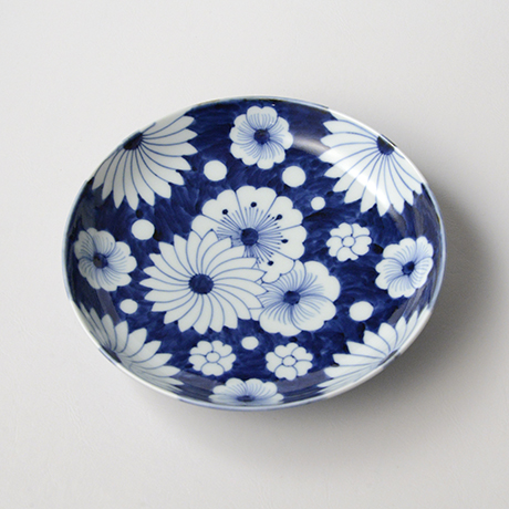 「No.25 菊花外濃文七寸皿 /   Dish with flower design, Sometsuke」の写真 その2