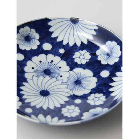 「No.25 菊花外濃文七寸皿 /   Dish with flower design, Sometsuke」の写真 その4