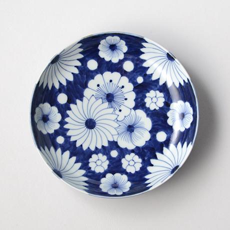 「No.25 菊花外濃文七寸皿 /   Dish with flower design, Sometsuke」の写真 その1