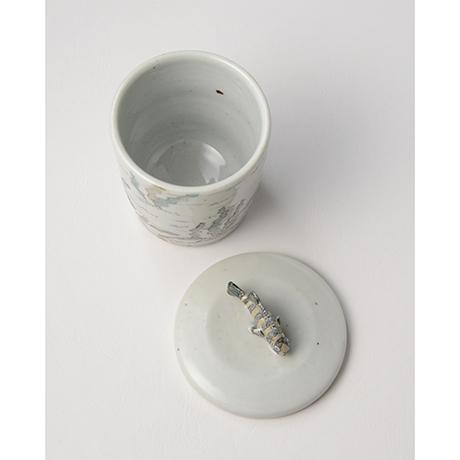 「No.25 色絵ふた付ひれ酒呑  Sake cup with lid, Iro-e」の写真 その6