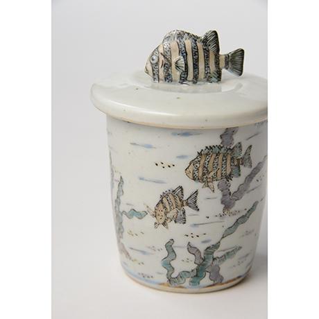 「No.25 色絵ふた付ひれ酒呑  Sake cup with lid, Iro-e」の写真 その8