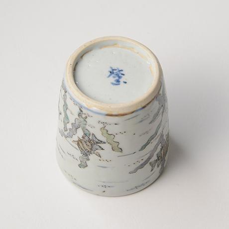 「No.25 色絵ふた付ひれ酒呑  Sake cup with lid, Iro-e」の写真 その7