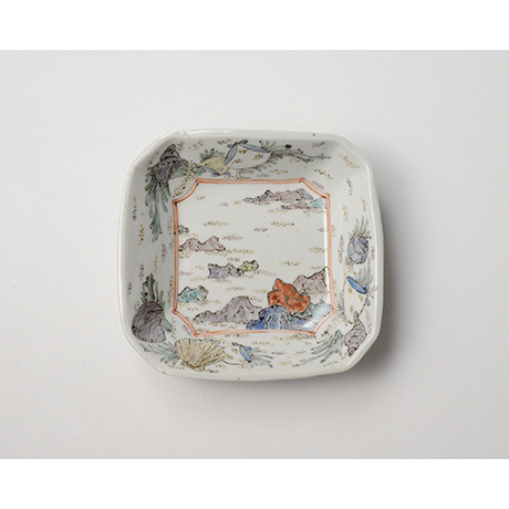 """「No.26 色絵四方小皿 二 「満潮干潮の図」  A set of two dishes, Iro-e, """"High Tide and Low Tide""""」の写真 その2"""