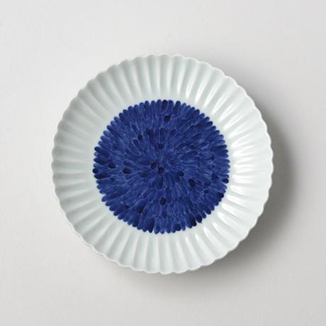 「No.27 菊花文菊割五.五寸皿 /   Dish with flower design, Sometsuke」の写真 その2