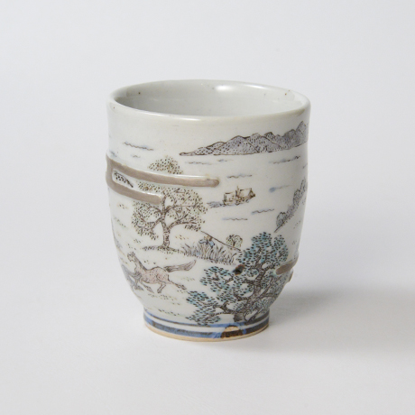 """「No.28 湯呑「汐首山から」  Yunomi, Iro-e with silver, """"A View from Mt. Shiokubi""""」の写真 その2"""