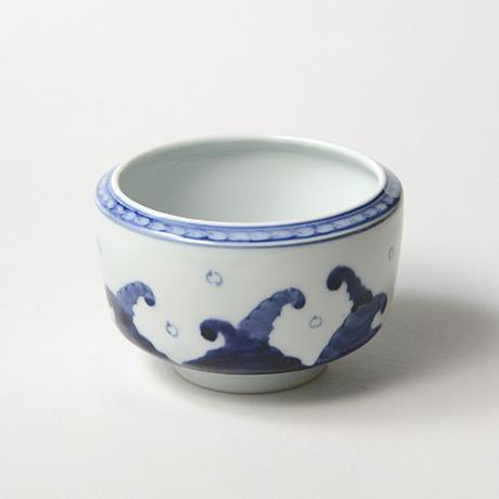 「No.28 金魚波文向付 /   Dish with goldfish and wave design, Sometsuke」の写真 その2