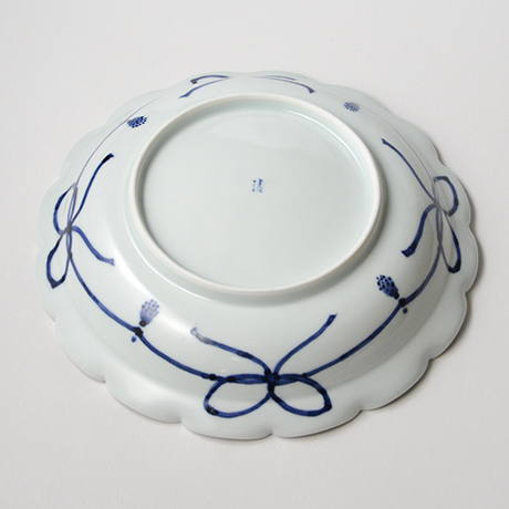 「No.29 瓔珞洋八花弁文輪花大鉢 /   Bowl with flower necklace design, Sometsuke」の写真 その2