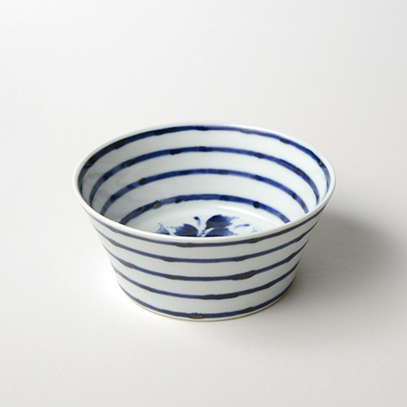「No.32 横縞牡丹文向付  /   Dish with peony design, Sometsuke」の写真 その2
