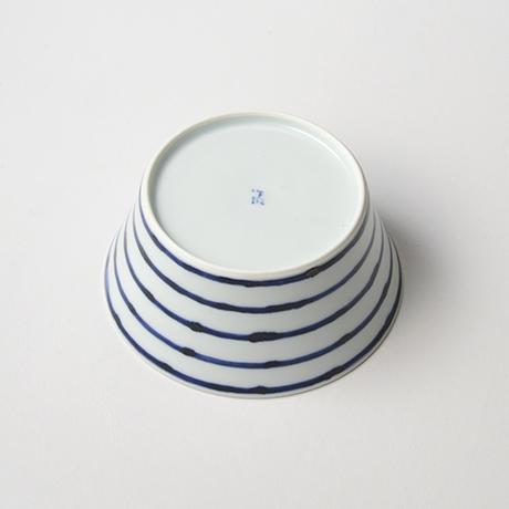 「No.32 横縞牡丹文向付  /   Dish with peony design, Sometsuke」の写真 その4
