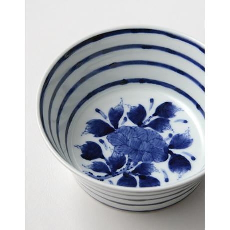 「No.32 横縞牡丹文向付  /   Dish with peony design, Sometsuke」の写真 その5
