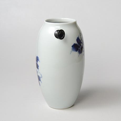 「No.36 蔓花文掛け花入  /   Hanging flower vase with vine and flower design, Sometsuke」の写真 その4