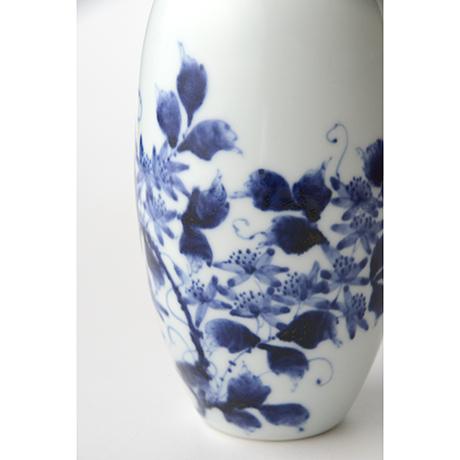 「No.36 蔓花文掛け花入  /   Hanging flower vase with vine and flower design, Sometsuke」の写真 その6