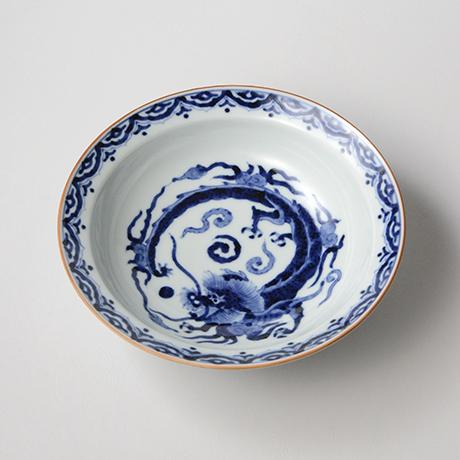 「No.38 雲龍丸文渕中鉢  /   Bowl with flying dragon, Sometsuke」の写真 その1