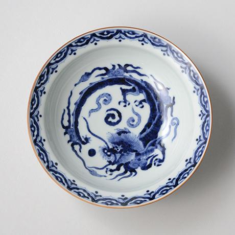 「No.38 雲龍丸文渕中鉢  /   Bowl with flying dragon, Sometsuke」の写真 その2