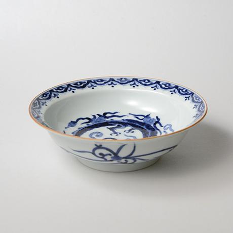 「No.38 雲龍丸文渕中鉢  /   Bowl with flying dragon, Sometsuke」の写真 その3