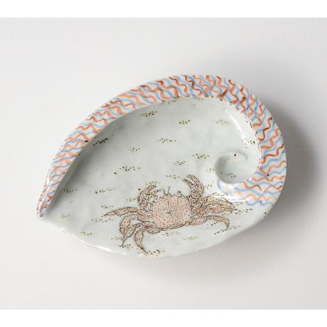 「No.4 色絵あわび皿 大 Dish, ear shell-shaped, Iro-e」の写真 その1