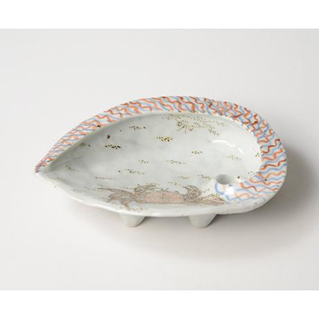 「No.4 色絵あわび皿 大 Dish, ear shell-shaped, Iro-e」の写真 その2