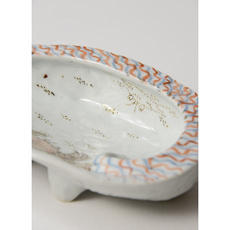 「No.4 色絵あわび皿 大 Dish, ear shell-shaped, Iro-e」の写真 その4
